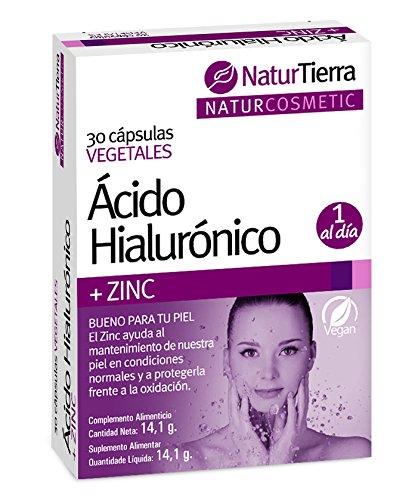 Naturtierra Ácido Hialurónico y Zinc - 30 Cápsulas