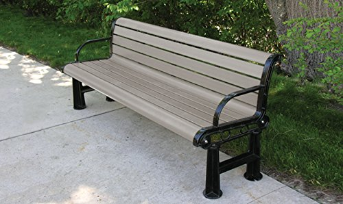 6' Recycled Plastic Regal Bench - Desert Tan (6' Recycled Plastic Table)