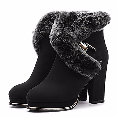 Noche Nieve De Sintéticas Black Botas De Invierno Botas Fiesta Y De De Zapatos De Vestido Bota Botines ZHUDJ Mujer Botas Moda Botines Vino Negro gxZ0wRqn