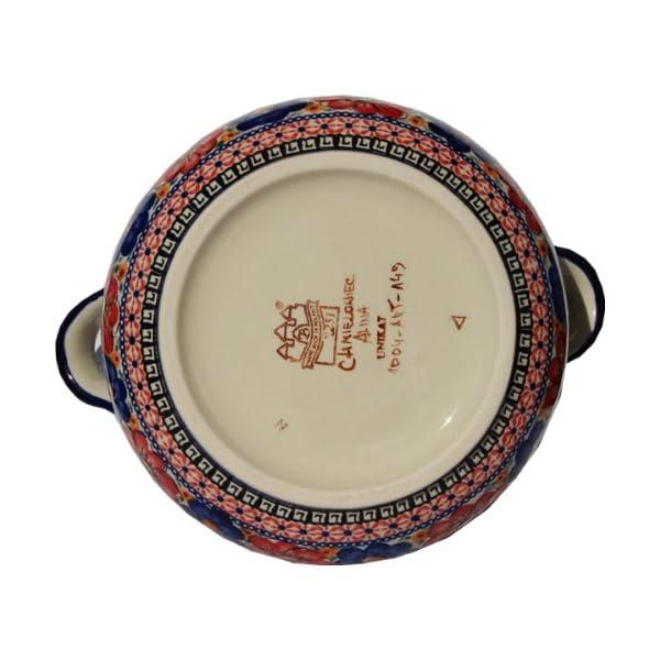 Polish Pottery Soup Tureen from Zaklady Ceramiczne Boleslawiec 1004-149 Art Signature Unikat Pattern, 13.4 Cups