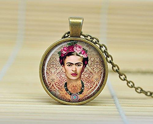 sunshine-day-frida-kahlo-necklace-frida-kahlo-pendant-frida-kahlo-jewelry-art-pendant-charm-feminist