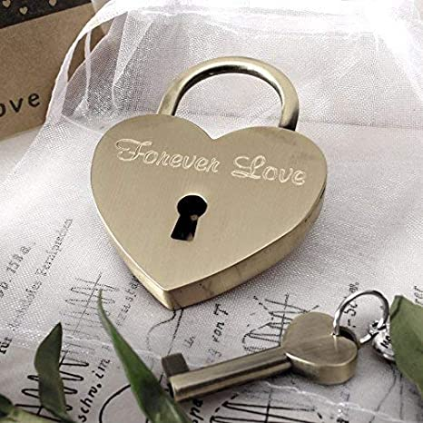 Caja de regalo gratis y mucho mas.Dise/ña tu castillo ahora grabado! LIEBESSCHLOSS-FACTORY Peque/ño Candado de amor Oro-Rosa grabado en forma de coraz/ón