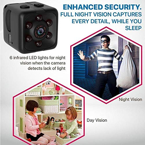 Fercisi SQ11 Black HD Photograph Night Vision Sports Camera 1280 x 960 Dome Cameras