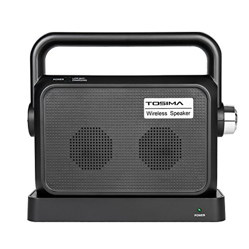 Wireless TV Speakers Hearing Assistance-Portable TV Soundbox,TV Sound Amplifier,Audio Hearing Aid Devices,Full Range Stereo Sound Box with Headset Jack Applicable ()