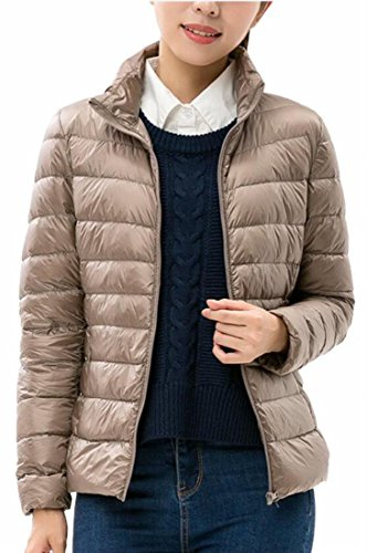 Collar Puffer Down Jacket 5 Quilted Up uk Outdoor Coat Women Zip Fly Year Stand w0qPT4Hx