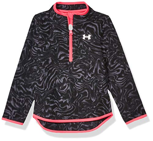 Under Armour Girls' Little 1/4 Zip Long Sleeve Pullover, Black f19, 6