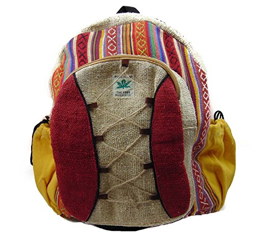 Dancing-Buddha-Hemp-Laptop-Backpack-Multicolor
