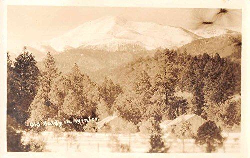View Old Real Photo - Old Baldy in Winter Scenic View Real Photo Antique Postcard J72429