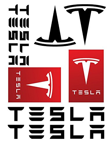 Tesla logo decal sticker set