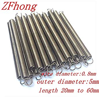 10pcs Stainless Steel Compression Pressure Small Spring Wire Diameter 0.8mm
