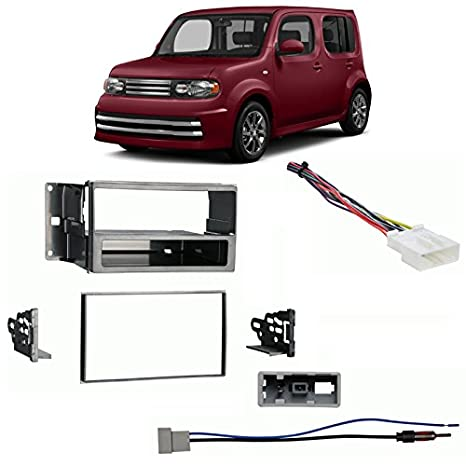 amazon com: fits nissan cube 09-14 single/double din harness radio install  dash kit: car electronics