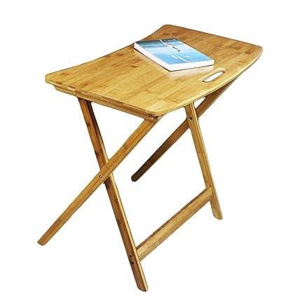 Klapptisch LITING Mesa Plegable de bambú, Mesa de Aprendizaje ...