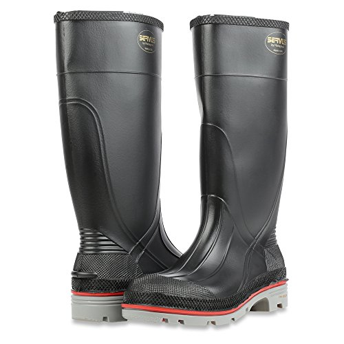 Servus XTP 15'' PVC Chemical-Resistant Soft Toe Men's Work Boots, Black, Red & Grey (75108) by Honeywell (Image #6)
