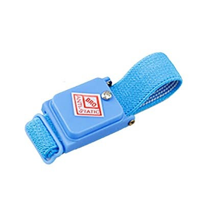 New Arrivals Blue Cordless Wireless Anti Static Esd Discharge Cable Band Wrist Strap Slim Wearable Devices