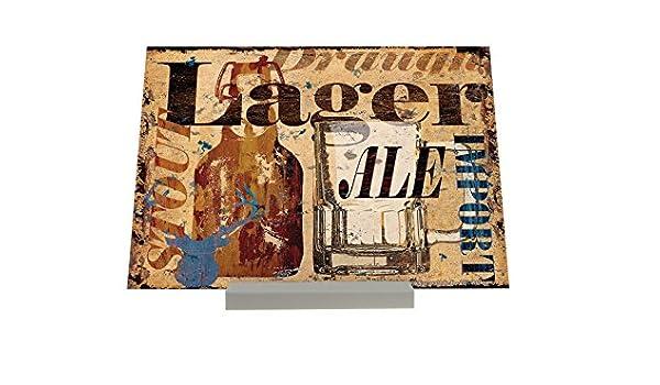 Soporte Fotografias Cervecería Cerveza Cocina Teniendo Ale botella jarra de cristal de importación cabeza de ciervo Starkbiert: Amazon.es: Hogar