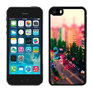 Fashionable Custom Designed iPhone 5C Phone Case With Multicolored City Street Letters_Black Phone Case