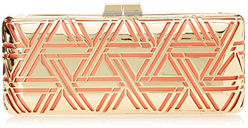 BCBG Metal Triangle Cage Clutch, Ambrosia, One Size