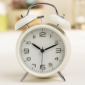 KOMO Silencio minimalista moderno reloj de sobremesa modelo personalizado de moda y arte creativo con luz salón dormitorio cama despertador metal ...