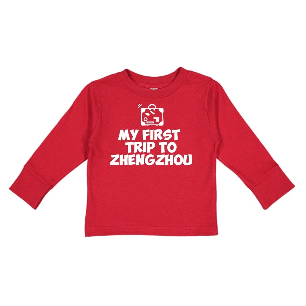Mashed Clothing My First Trip to Zhengzhou Toddler//Kids Long Sleeve T-Shirt