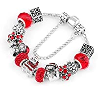 Christmas Gift Women Bangle Bracelet Jewelry Bangle Jewellery Classic Design Red Plating Jewelry