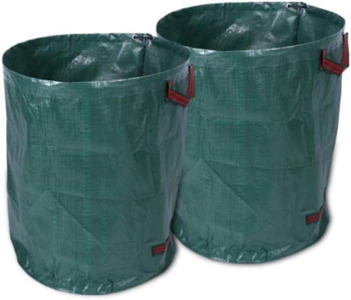 RICA-J Garden Waste Bags, 2Pcs Reusable Plastic Leaf Bag, 72 Gallons Large Capacity Garden Leaf Bags, Collapsible Lawn Pool Leaf Waste Bag for Leaf Collection