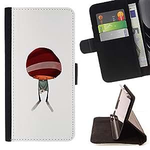 For Apple Apple iPhone 4 / iPhone 4S Case , Resumen minimalista Cabrito Lindo- la tarjeta de Crédito Slots PU Funda de cuero Monedero caso cubierta de piel