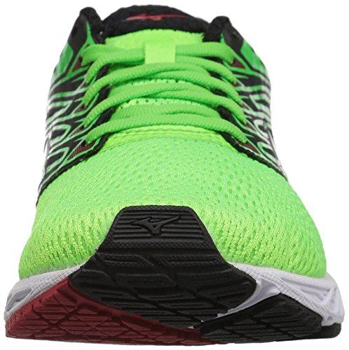 Mizuno Running Hommes Vague Ombre Running-chaussures Vert Slime / Blanc