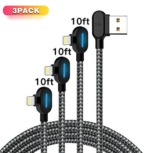 Certified 3Pack Blue iPhone Charger