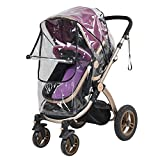 Waterproof Baby Stroller Dust Rain Cover Universal Pram Windshield Transparent PVC Accessory