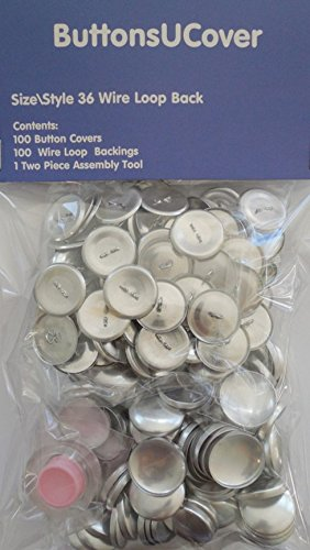 100 ButtonsUCover Size 36 WIRE LOOP Back Cover Buttons and Assembly Tool Kit