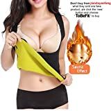Womens Hot Sweat Body Shaper Weight Loss Sauna Vest No Zipper Black, Fat Burning Tummy Control Corset