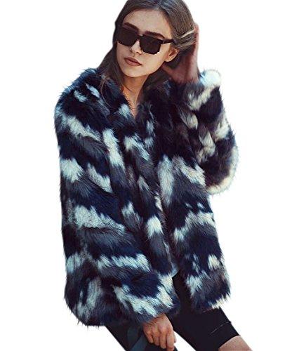 LLQ Abrigo para Mujer Fur Coat Invierno Piel Abrigo Pelo Ropa Encapuchado Chaqueta Piel Long Section Felpa Ropa Caliente Abrigo Pelo Mangas Largas Ropa ...