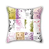 NICEPLW The flower pillowcover of ,20 x 20 inches / 50 by 50 cm decoration,gift for him,boys,valentine,home,valentine,home office (twice sides)