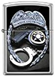 Zippo to Protect and Serve Satin Chrome Lighter