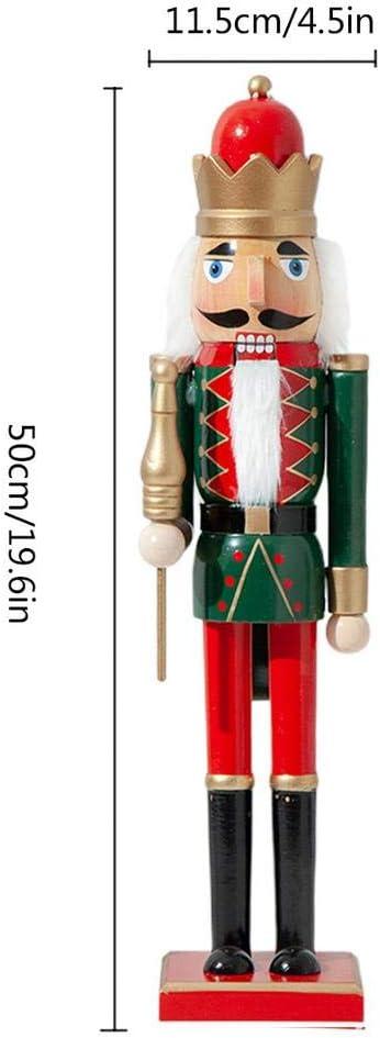 50cm Parfait pour Tablettes Et Tablettes 100 Bois Forwei Casse-Noisette Soldat en Bois Traditionnel avec Fusil d/écor de f/ête de No/ël