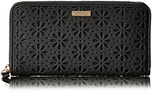 Kate Spade New York Cedar Street Perforated Black Lacey Wallet