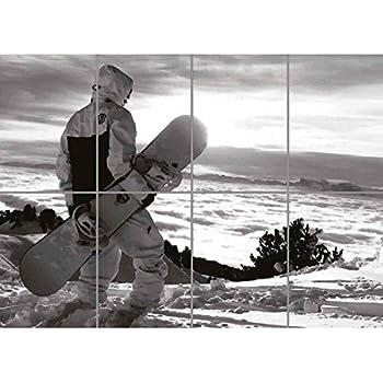 Doppelganger33 LTD Snowboard Heaven Skiing Giant Panel Poster Art Print Picture PR205