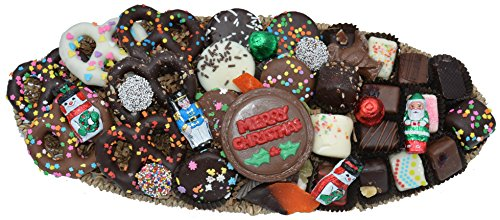 Deluxe Hand-Made Chocolates Christmas Gift Basket (Medium)