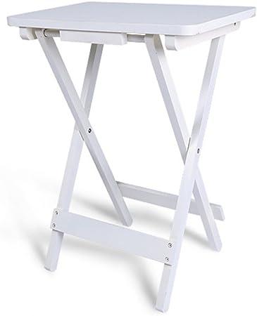 Ymxljf Table Pliante Simple Table Carrée En Bois Massif