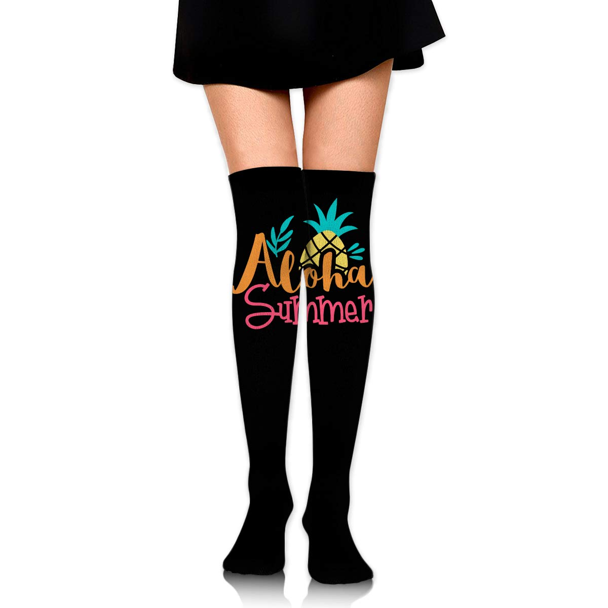 Girls Womens Aloha Summer Over Knee Thigh High Stockings Fashion Socks One Size
