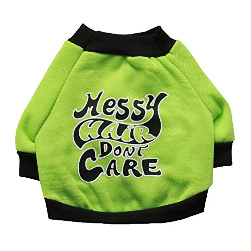 Pet Puppy Halloween Party Costume Funny Dog Cat T-Shirts Apparel (XS, Green)
