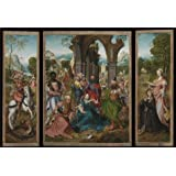 Perfect effect Canvas ,the High quality Art Decorative Canvas Prints of oil painting 'Master of the Antwerp Adoration,The Adoration of the Magi,about 16th century', 18x26 inch / 46x67 cm is best for dining Room decoration and Home decoration and Gifts