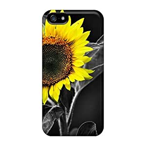 Awesome Case Cover/iphone 5/5s Defender Case Cover(sunflower)