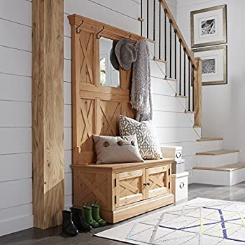 Home Styles 5524-49 Country Lodge Hall Tree, Honey Pine Finish
