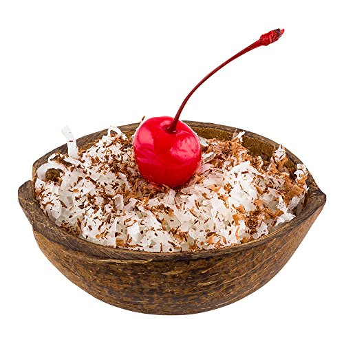 Coconut Shell Half (Coconut Shell Bowl, Real Coconut Bowl, Natural Coconut Half Shell, Dessert Bowl - 4 Ounce - 10ct Box - Restaurantware)