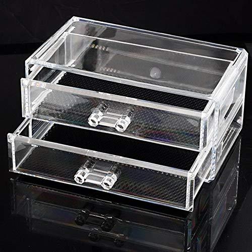 Mikash Best 1PC Transparent Makeup Case Cosmetic Organizer Box Jewelry Storage Holder   Model JWRLBX - 266  