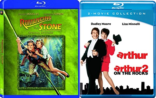 Arthur & Arthur 2 on the rocks + Romancing the Stone... Blu Ray Fun Comedy 80's Fun movie Set