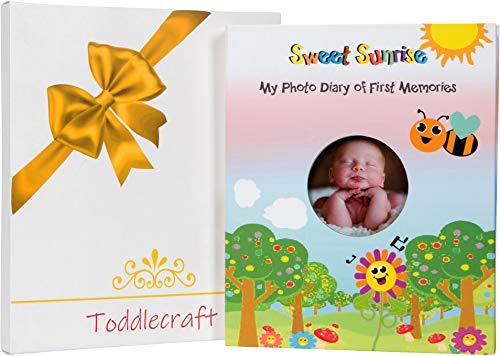 Unisex Baby Memory Book/Baby Shower Gift by Toddlecraft | Photo Album & Mommy Diary w-Gift Box | Years 1-5 w/Built-in Sturdy Keepsake Pouch | for Infant & Newborn Boy/Girl ()