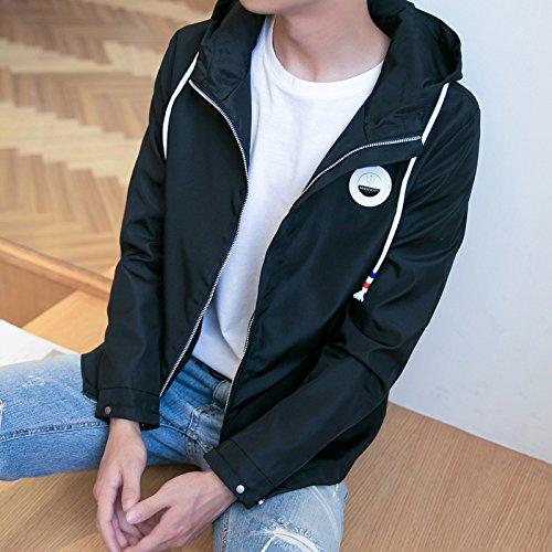caída chaqueta La versión coreana la de Sau chaqueta hombres de casual Chaqueta XXXL de con tendencia negro cap casual qCdfCgvx