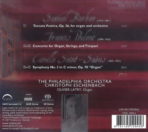 Symphony No. 3, ''Organ'' / Organ Concerto / Toccata Festiva by Ondine